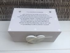 Shabby Personalised Chic Gift For Bridesmaid Maid / Matron Of Honour Wedding - 332097243944